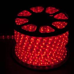 Дюралайт светодиодный, 3W 50м 230V 72LED/м 11х17мм, красный-желтый, LED-F3W