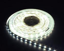 LS607, комплект светодиодной ленты с драйвером 30W, 30SMD(5050)/m 7.2W/m 12V белый на белом 3 метра