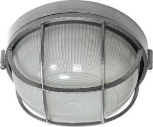 НПО11-100-02, светильник пылевлагозащищенный накладной, 230V Е27, серебро