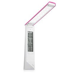 DE1710, Светильник настольный, 16LED 1,8W, с USB проводом для подзарядки 100см, розовый