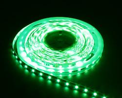 LS607, лента светодиодная влагозащищенная, цвет свечения: зеленый на белом основании, 5м 14.4W/m