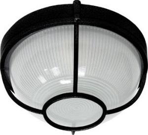 НПО11-100-04, светильник пылевлагозащищенный накладной, 230V Е27, черный