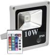 LL-271, прожектор светодиодный тонкий, 1LED/10W 230V RGB (разноцветный) серый (IP66)