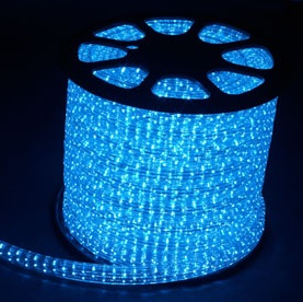 Дюралайт светодиодный, 5W 50м 230V 144LED/м 11х30мм, синий, LED-F5W