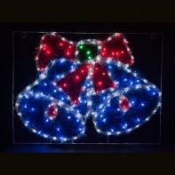 LT016, световая фигура - колокольчики, цвет свечения - белый+синий+зеленый+красный