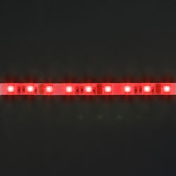 LS606, светодиодная лента, цвет свечения: красный, 5m 7.2W/m, белое основание