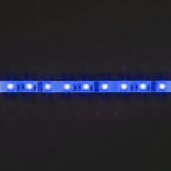 LS607, лента светодиодная влагозащищенная, цвет свечения: синий на белом основании, 5м 14.4W/m