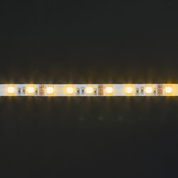 LS607, лента светодиодная влагозащищенная, цвет свечения: желтый на белом основании, 5м 14.4W/m