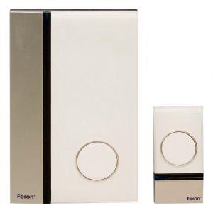 Звонок дверной беспроводной, 3*1.5V/AA (32 мелодии) белый, W-628