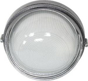 НПО11-100-03, светильник пылевлагозащищенный накладной, 230V Е27, серебро