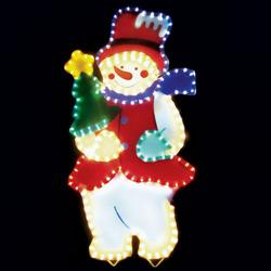 LT019, световая фигура - снеговик, цвет свечения - разноцветный