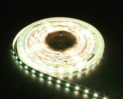 LS606, комплект светодиодной ленты с драйвером 30W, 30SMD(5050)/m 7.2W/m 12V теплый белый на белом 3 метра