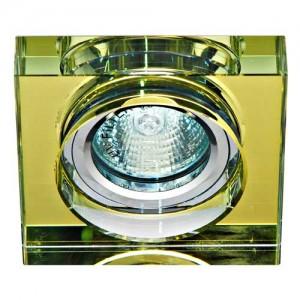 8180-2, светильник потолочный, MR16 50W G5.3 желтый, серебро