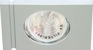 DL3A, светильник потолочный встраиваемый, MR16  12V G5.3 алюминий