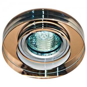 8080-2, светильник потолочный, MR16 50W G5.3 коричневый, серебро