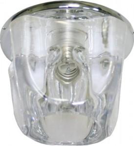 CD16, светильник потолочный, JCD G9 с прозрачным стеклом, хром, с лампой