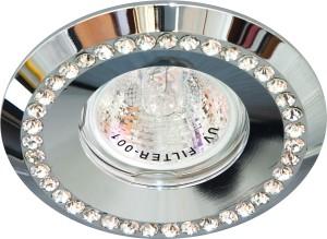 DL104-C, светильник потолочный встраиваемый, MR16  12V G5.3  хром
