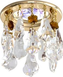 CD4208, светильник потолочный, MR16 G5.3 прозрачный + коричневый, золото