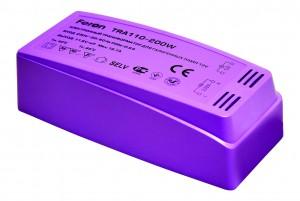 TRA110, трансформатор электронный понижающий, 230V/12V 200W пластик розовый