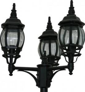 8115, светильник садово-парковый, столб, 3*100W 230V E27 черный
