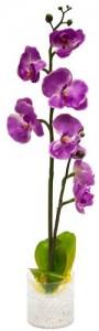 """PL307 Интерьерный декоративный светильник """"Орхидея"""", фиолетовые цветы"""