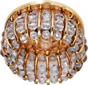 CD2119, светильник потолочный, JCD9 G9 с прозрачным стеклом, золото, с лампой