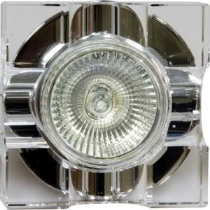 C2023A, светильник потолочный, MR16 G5.3 с прозрачным стеклом, хром