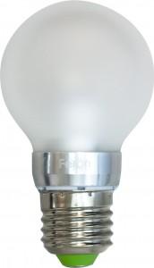 LB-41, лампа светодиодная,  6LED(3,5W) 230V E27 6400K большой шар матовый A55