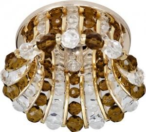 CD2120, светильник потолочный, JCD9 35W G9 с прозрачным-коричневым стеклом, золото