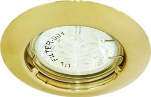 DL110А, светильник потолочный, MR11 G4.0 золото