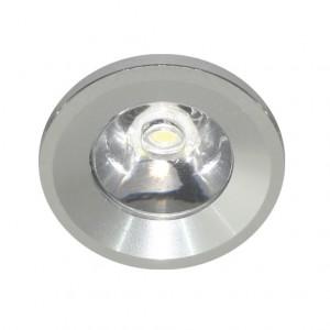 G770, светильник мебельный встраиваемый со светодиодом, LED 1*1W 230V круг