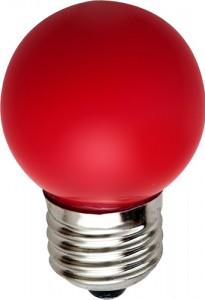 LB-37, лампа светодиодная, 5LED(1W) 230V E27 красный