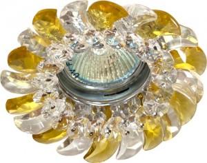 CD2316, светильник потолочный, MR16 G5.3 с прозрачным-желтым стеклом, хром, с лампой