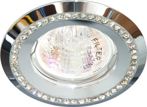 DL103-C, светильник потолочный встраиваемый, MR16  12V G5.3  хром