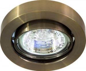 """DL162, светильник потолочный, MR16 50W G5.3 """"круг"""" поворотный, медь"""