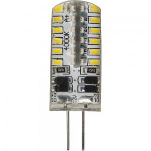 LB-422, светодиодная лампа, 12V 2700K 48LED(3W)  G4  капсула силикон 11x38mm