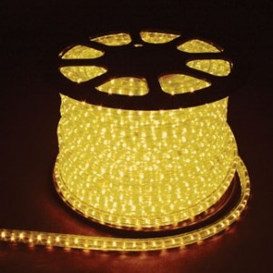 Дюралайт светодиодный, 2W 100м 230V 36LED/м 13мм, желтый, LED-R2W