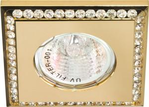 DL102-C, светильник потолочный встраиваемый, MR16  12V G5.3 золото