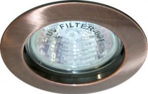 DL307, светильник потолочный, MR16 50W G5.3 античная медь