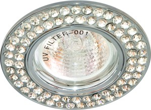 DL101-C, светильник потолочный встраиваемый, MR16  12V G5.3 хром
