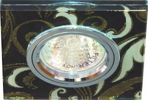 8146-2, светильник потолочный встраиваемый, MR16 G5.3 золото/белый, серебро