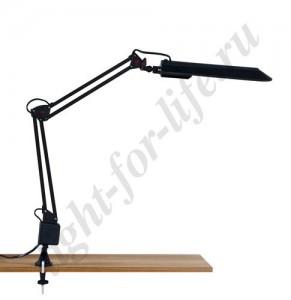 Купить настольные лампы и светильники на струбцине