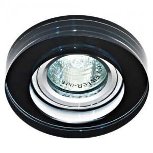 8080-2, светильник потолочный, MR16 50W G5.3 черный, серебро