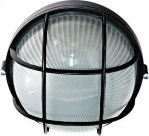 НПО11-100-02, светильник пылевлагозащищенный накладной, 230V Е27, черный