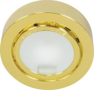 А012N, светильник мебельный, JC G4.0 золото, с лампой