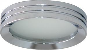DL210, светильник потолочный, MR16 G5.3 с матовым стеклом, хром