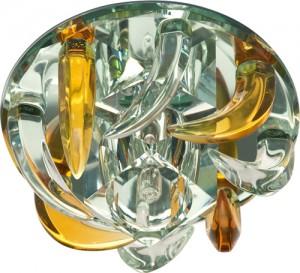 CD2531, светильник потолочный, JC G4 с желтым и прозрачным стеклом, зеркальный, с лампой