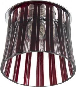 CD2318, светильник потолочный, JCD9 G9 с красным стеклом, с лампой