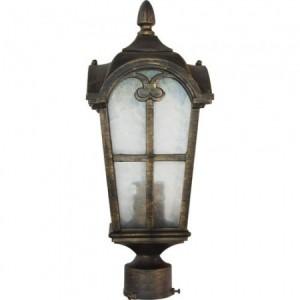 PL104, светильник садово-парковый, 60W 230V E27 черное золото