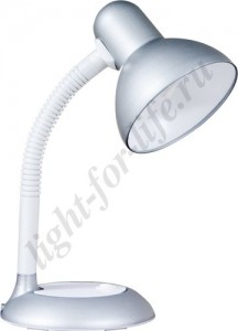 DE1420, настольный светильник, ESB 9W 230V E27 серебро с лампой